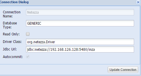 Netezza SQL Client - JDBC Connection