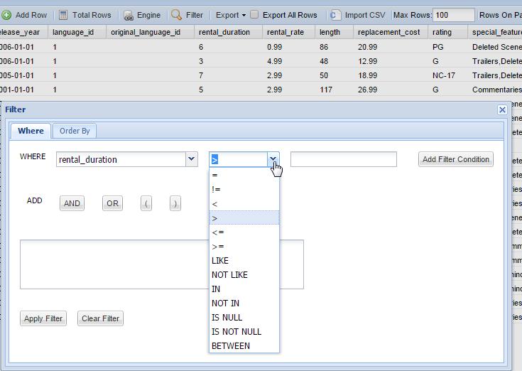 Online Mysql Client Tools Web Based Mysql Gui Dbhawk