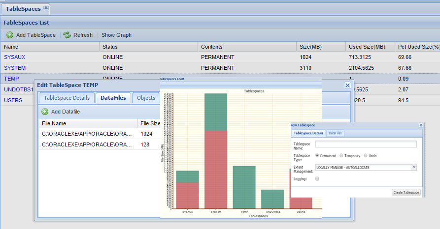Oracle Tablespace Manager