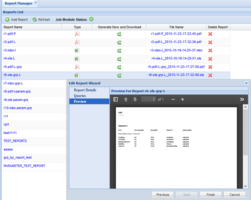 Oracle SQL Report Builder