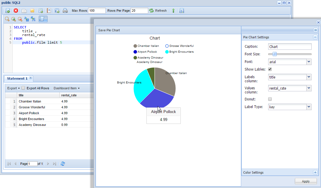 Postgresql Web Client Postgresql Reporting Tools Dbhawk