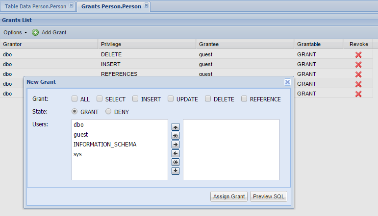 MSSQL Object Grants Manager