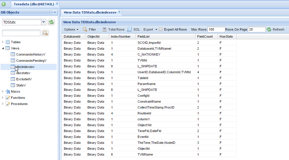 Teradata Online View Manager