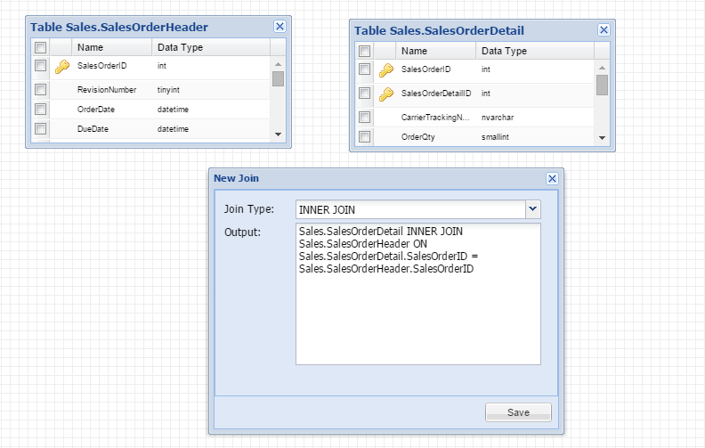 SQL Server Visual Query Builder