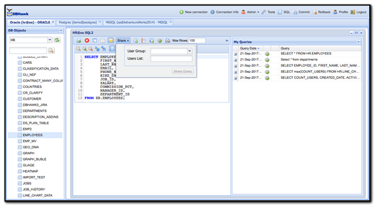 sql database editor web-based