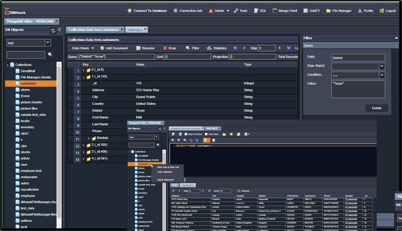 DBHawk for MongoDB