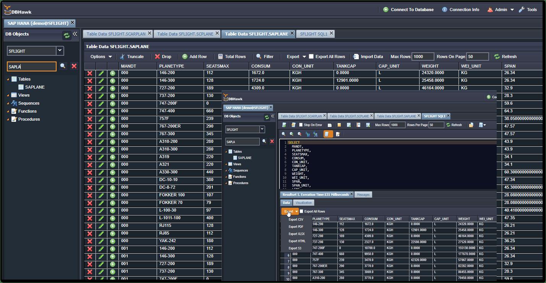DBHawk for SAP-Hana Database