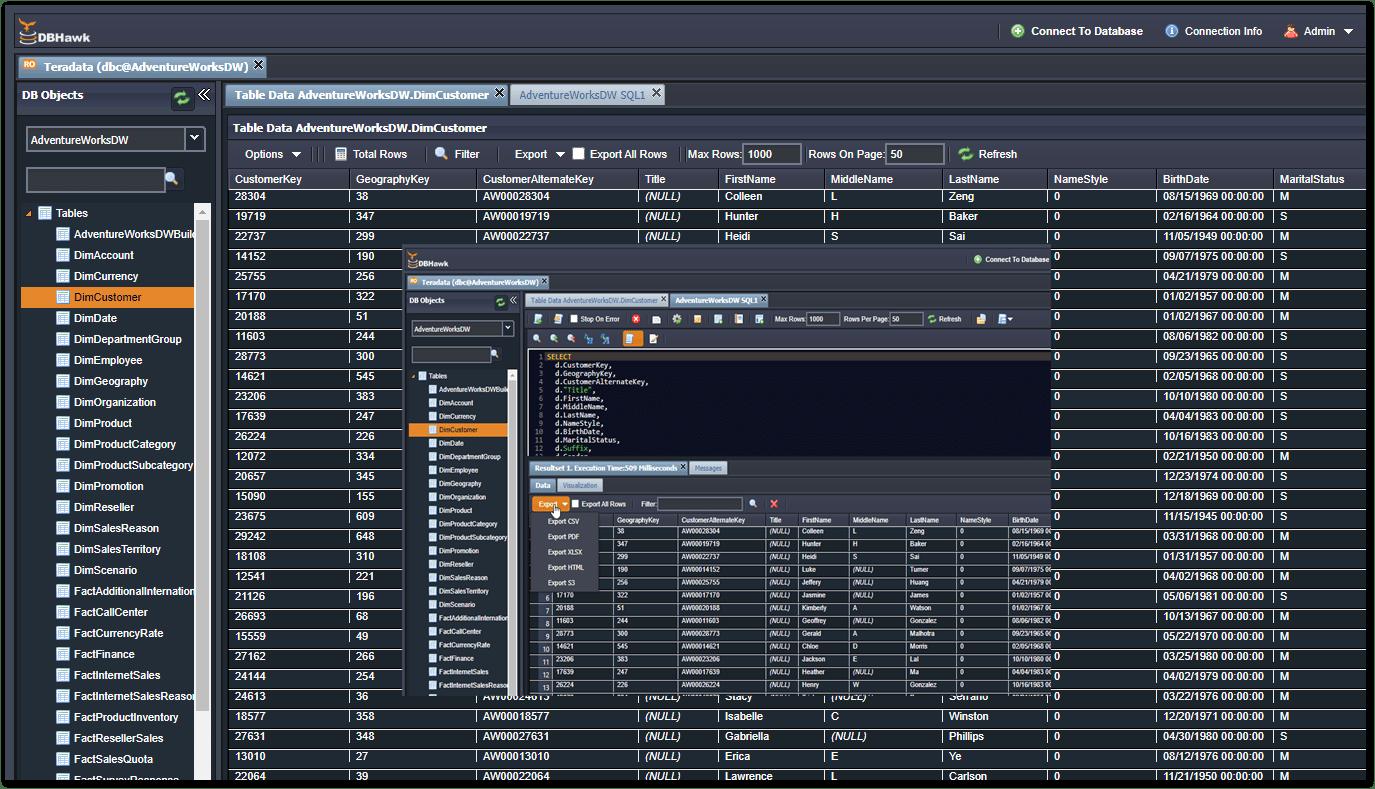 DBHawk for Teradata Database