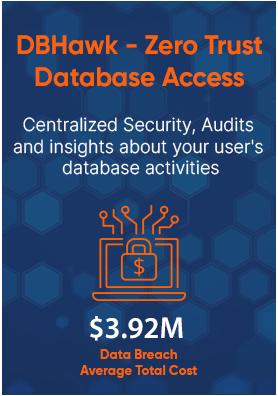 DBHawk-Zero Trust Database Access